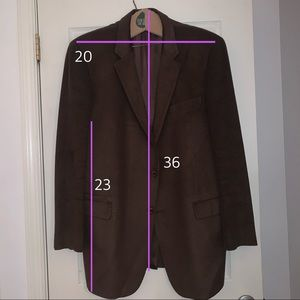 Dark Brown Corduroy blazer 48L XL